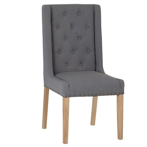 Manchester Fabric Dining Chair - Grey